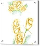 Gold Dust Acrylic Print