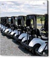 Golfing Golf Carts Acrylic Print