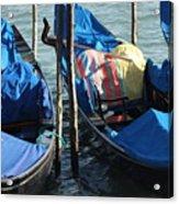Gondolas In Venice Acrylic Print