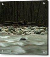 Granite And Water, Lynn Creek Acrylic Print