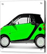 Green Mini Car Acrylic Print