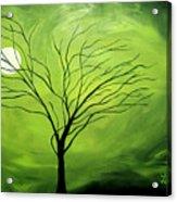 Green Night I Acrylic Print