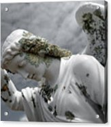 Grieving Angel Acrylic Print by Yurix Sardinelly