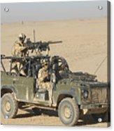 Gurkhas Patrol Afghanistan In A Land Acrylic Print