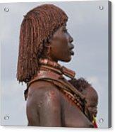 Hamer Tribe Woman, Ethiopia  Acrylic Print