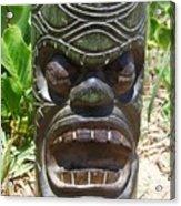 Hawaiian Tiki God Ku Acrylic Print