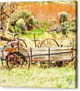 Hay Wagon at Butch Cassidy's Home Acrylic Print
