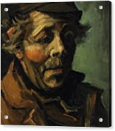 Head Of A Peasant With Cap Acrylic Print