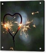 Heart Shape Sparkler Acrylic Print