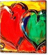 2 Hearts Acrylic Print