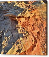 High Above Wash 3 In Valley Of Fire Acrylic Print