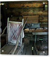 Historic Log Trappers Cabin Acrylic Print