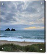 Holywell Bay Sunset Acrylic Print