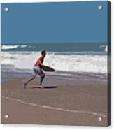 Hurricane Surf In Florida Acrylic Print
