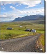 Iceland Landscape Acrylic Print by Ambika Jhunjhunwala
