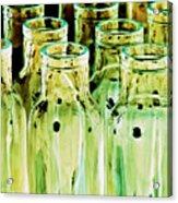Iridescent Bottle Parade Acrylic Print