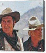 Jack Palance And Lee Marvin Monte Walsh Set Old Tucson Arizona 1969 Acrylic Print
