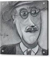 James Joyce Acrylic Print