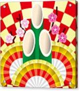 Japanese Newyear Decoration Acrylic Print