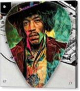Jimi Hendrix Guitar Pick Collection Acrylic Print