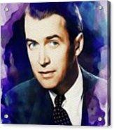Jimmy Stewart, Vintage Movie Star Acrylic Print