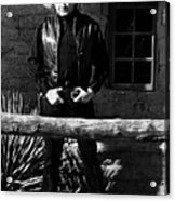 Johnny Cash Gunfighter Hitching Post Old Tucson Arizona 1971 Acrylic Print