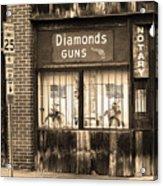 Johnson City Tennessee - Gun Shop Acrylic Print