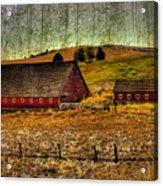 Johnson Road Barns Acrylic Print