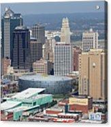 Kansas City Skyline Panorama Acrylic Print