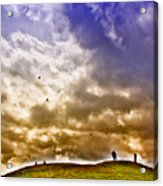Kite Flying Acrylic Print by David Patterson