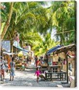 Koh Rong Island Main Village Bars In Cambodia Acrylic Print