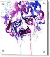 Kurt Vonnegut Acrylic Print by Alexandra-Emily Kokova
