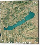 Lake Balaton 3d Render Satellite View Topographic Map Acrylic Print