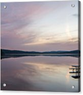 Lake Of Two Rivers Sunrise Acrylic Print