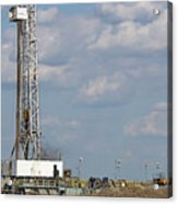 Land Oil Drilling Rig On Oilfield Acrylic Print