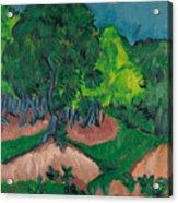 Landscape With Chestnut Tree Acrylic Print