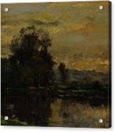 Landscape With Ducks Acrylic Print