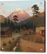 Landscape With Volcano Acrylic Print