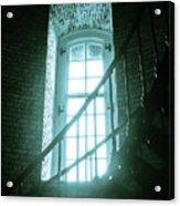 Light Through The Currituck Window - Text Acrylic Print