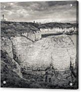 Lighthouse And Cliffs Acrylic Print