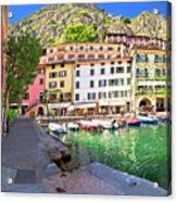 Limone Sul Garda Turquoise Harbor Panoramic View Acrylic Print