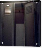 Locker Row And Open Door 2 Acrylic Print