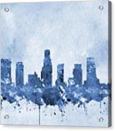 Los Angeles Skyline-blue Acrylic Print
