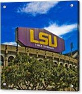 Lsu Tiger Stadium Acrylic Print by Scott Pellegrin