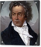 Ludwig Van Beethoven, German Composer Acrylic Print