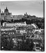 Madrid Panorama From Debod Lookout Madrid Spain Acrylic Print