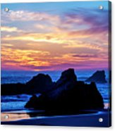 Magical Sunset - Harris Beach - Oregon Acrylic Print