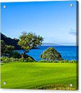 Makena Golf Course In Makena Area Acrylic Print