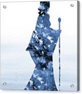 Maleficent-blue Acrylic Print