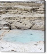 Mammoth Hot Springs Upper Terraces In Yellowstone National Park Acrylic Print